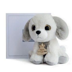 Peluche chien blanc Peps Prairie Histoire d'Ours