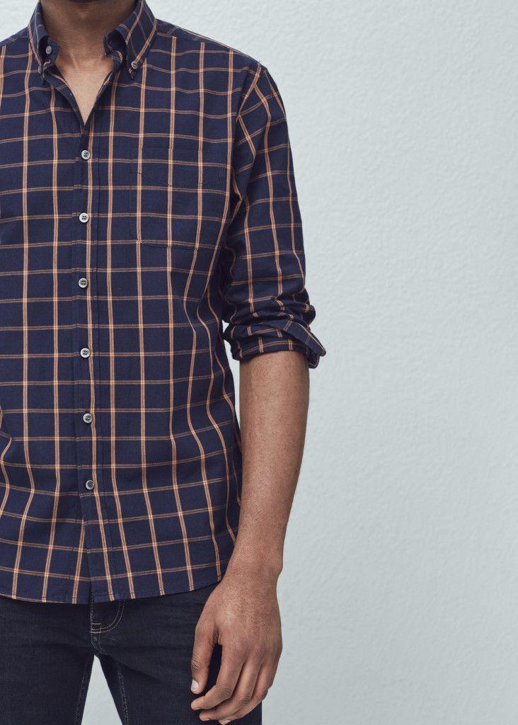 chemise à carreaux Mango