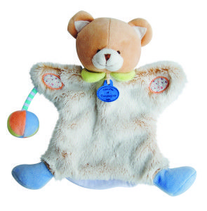 marionnette ours doudou et compagnie