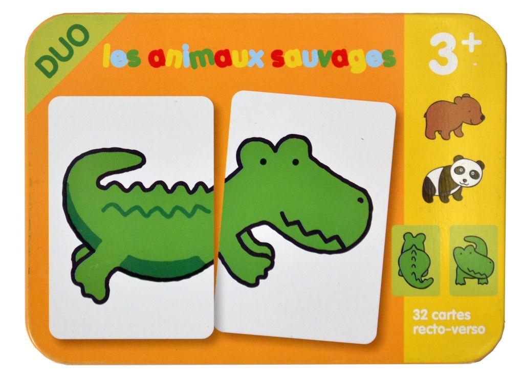 jeu de cartes les animaux sauvages PYM